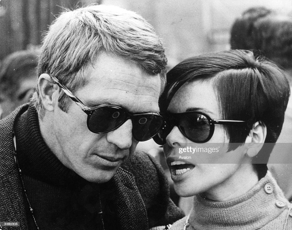 American actor Steve McQueen with his wife, Neile McQueen in San Francisco during a break from shooting 'Bullit', a Solar film production in which he plays the lead role.