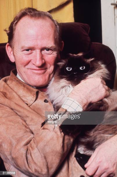 Scottish actor Gordon Jackson who plays Hudson the butler in the television series 'Upstairs Downstairs'