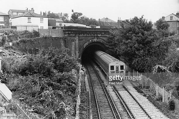 The tunnel at Streatham from Gleneldon Road Bridge south London