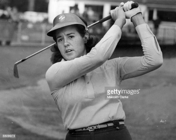 Nancy Lopez of USA at golf practice prior to LPGA European championship at Sunningdale