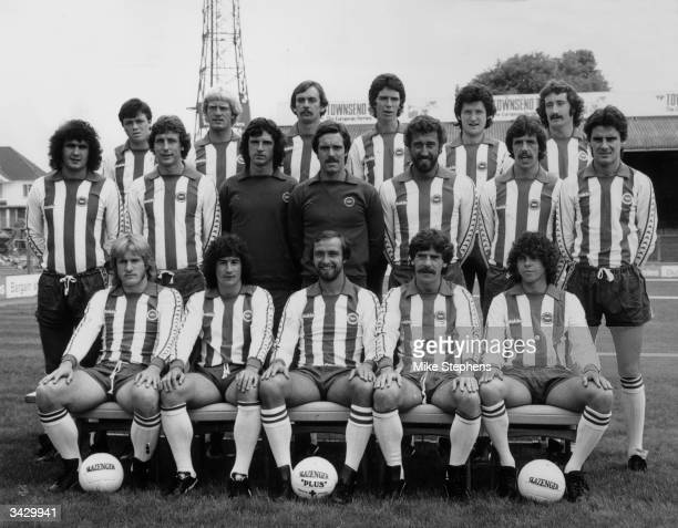 The Brighton football team Giles Stille Teddy Maybank Malcolm Poskett Gary Williams Mike Kerslake and Gerry Ryan Steve Foster Andy Rollings Graham...