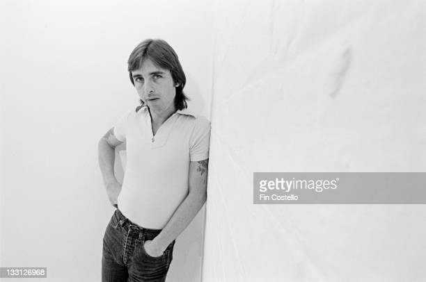 Drummer Phil Rudd from Australian rock band AC/DC posed in a studio in London in August 1979