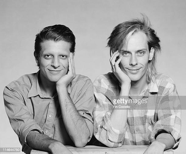 Mick Karn and Peter Murphy from Dalis Car posed together in London in August 1984