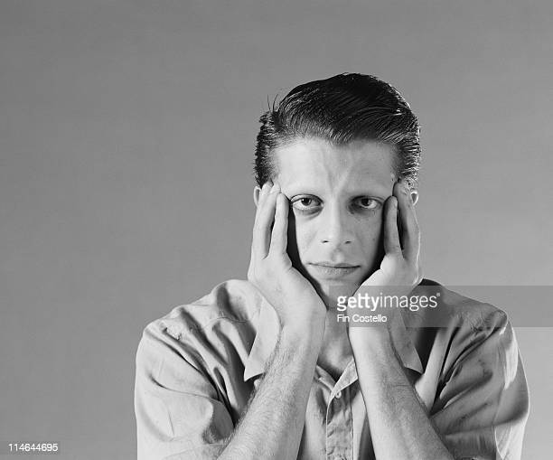 Mick Karn from Dalis Car posed in London in August 1984