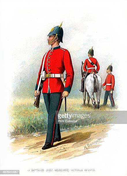 1st Battalion Victoria Infantry' c1890 A coloured lithographic plate from Her Majesty's Army Indian and Colonial Forces by Walter Richards JS Virtue...