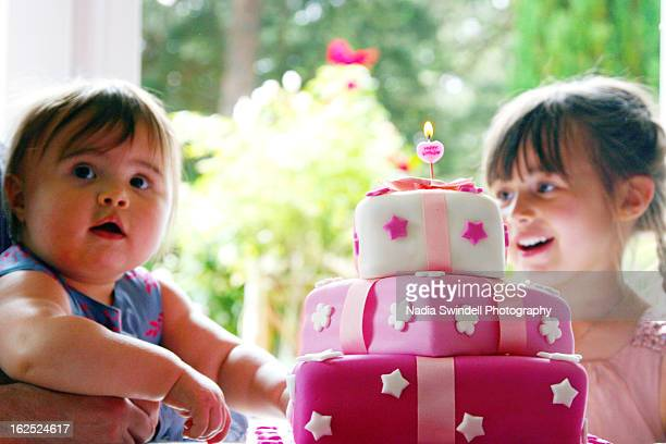 1st birthday - weybridge stock photos and pictures