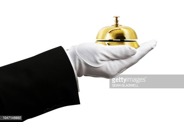1st class butler service - bell stock pictures, royalty-free photos & images