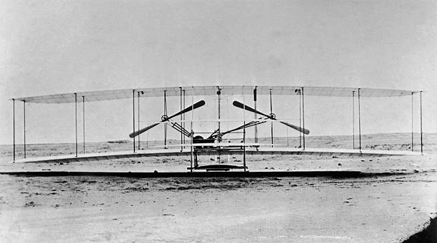 The Wright Brothers first plane 1903, in which the...