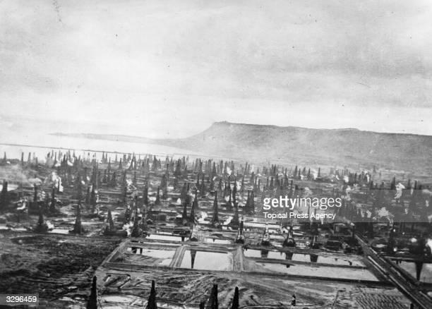 The Baku oil fields
