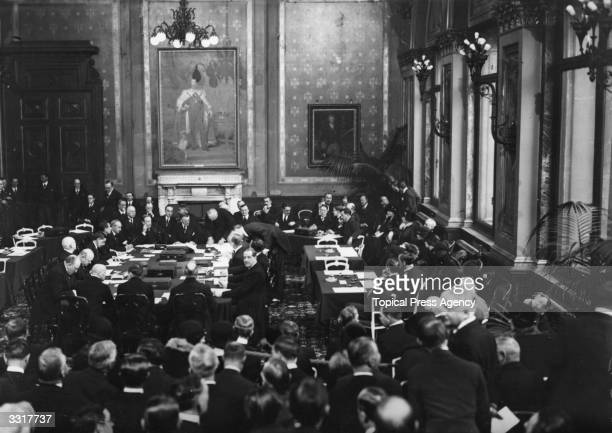 Signatories in the Grand Assembly Room of the Foreign Office Locarno during the signing of the Locarno Treaties The seven treaties were intended to...