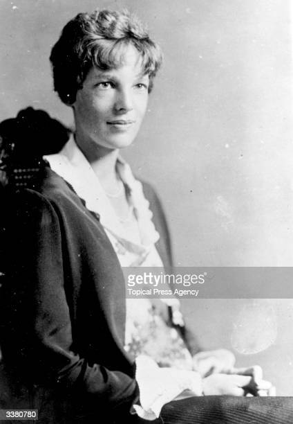 Aviatrix Amelia Earhart photographed in Washington DC as a special guest of the National Aeronautic Association