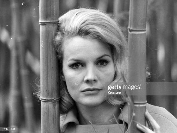 Actress Carol Baker during filming 'Honeymoon' with French actor Jean Sorel