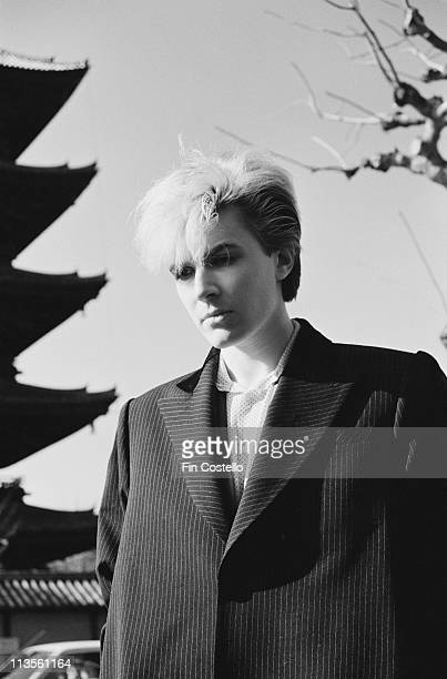 David Sylvian from Japan posed in Japan during their final tour in December 1982