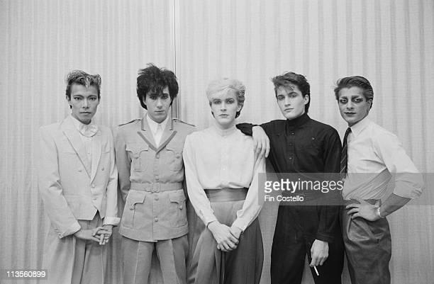 English rock band Japan pose together in Japan during their final tour in December 1982 Left to Right Masami Tsuchiya Richard Barbieri David Sylvian...