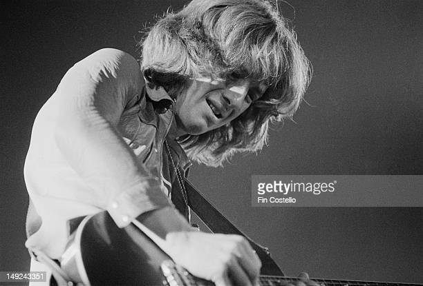 Guitarist Brad Whitford from Aerosmith performs live on stage at the Sports Arena in San Diego USA in December 1975