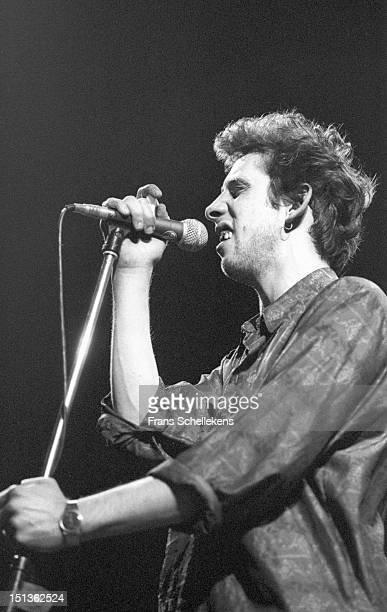 1st DECEMBER: Shane MacGowan, singer with the Pogues, performs live on stage at Vredenburg in Utrecht, Netherlands on 1st December1986.