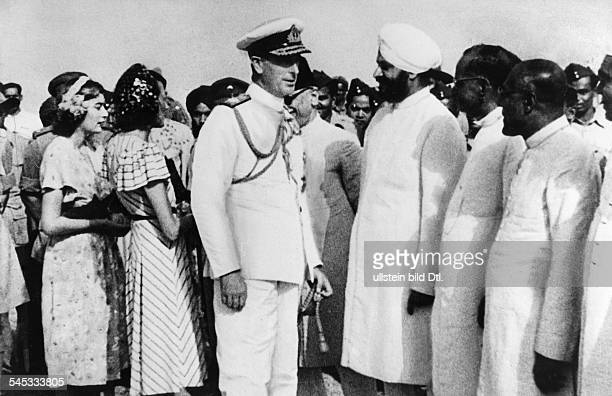 1st Earl Mountbatten of Burma 19001979 British Admiral Viceroy of India untill Mountbatten saying goodbye to Indians after India had become...