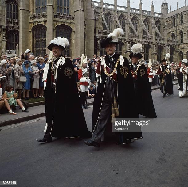 1st Earl Mountbatten of Burma Louis Mountbatten at the Garter Ceremony in Windsor Castle Windsor Berkshire