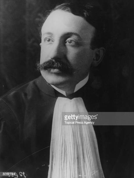 Maitre de MoroGiafferi leading counsel for murderer Henri Desire Landru who was found guilty of the murder of ten women and a boy and guillotined on...
