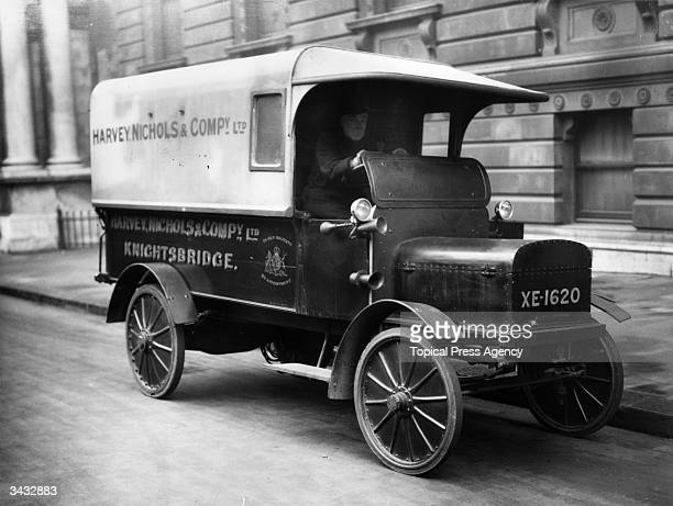 An electric truck owned by the famous London store of Harvey Nichols in Knightsbridge London