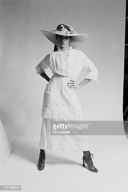 American singer Betty Davis posed in New York in February 1976