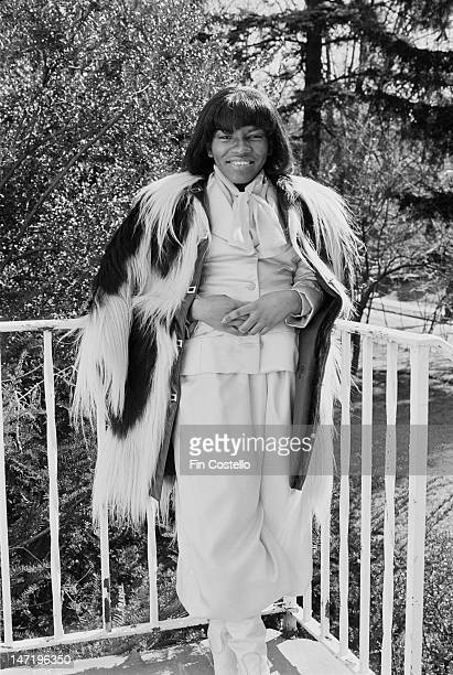 American singer Stephanie Mills posed at home in Mount Vernon New York in February 1976