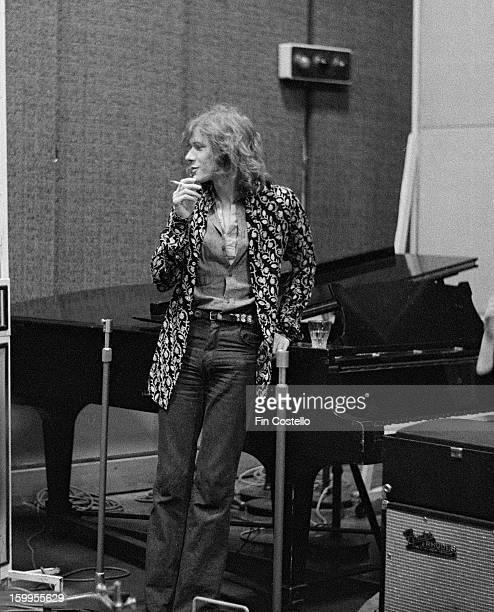 English musician Paul Jones posed at BBC Studios in Maida Vale London in February 1972