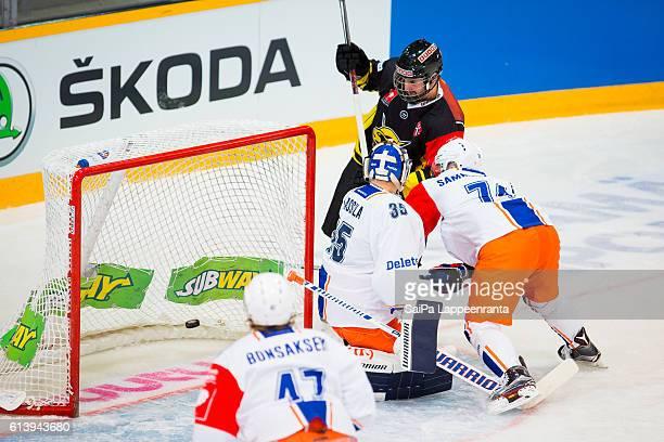1st goal of SaiPa Lappeenranta the Champions Hockey League Round of 32 match between SaiPa Lappeenranta and Tappara Tampere at Kisapuisto on October...
