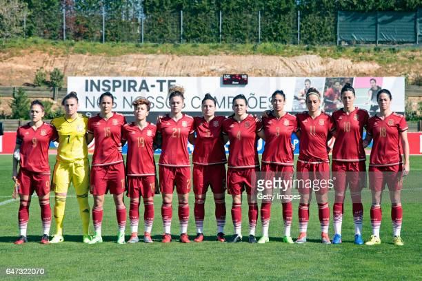Initial team of Spain Women Verónica Giadans Sandra Paños Silvia Meseguer Bellido Amanda Sampedro Bustos María Pilar Léon Cebrian Ivana Andrés Sanz...