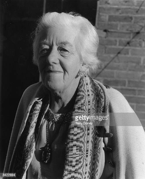 English actress Margaret Rutherford after being made a Dame of the British Empire in the New Year's Honour List