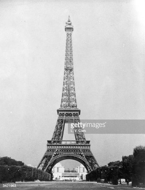 The Eiffel Tower built by Alexandre Gustave Eiffel for the 1889 World Fair in Paris