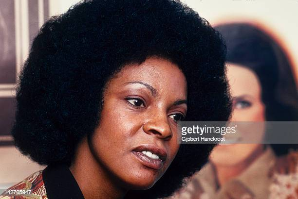 A portrait of soul singer Martha Reeves from The Vandellas in Los Angeles California United States in 1974