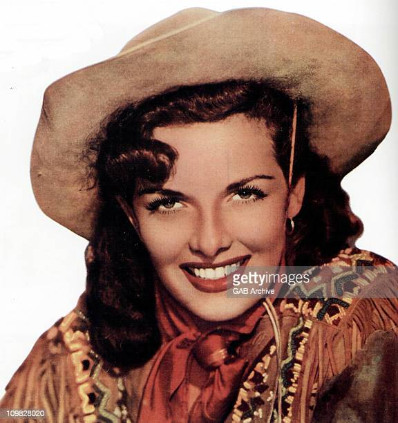 American actress Jane Russell stars as Wild West sharpshooter Calamity Jane in 'The Paleface' directed by Norman Z McLeod in 1948