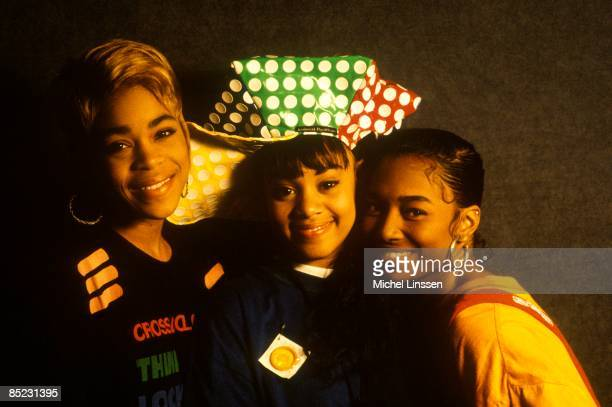 American group TLC posed together in The Netherlands in 1992