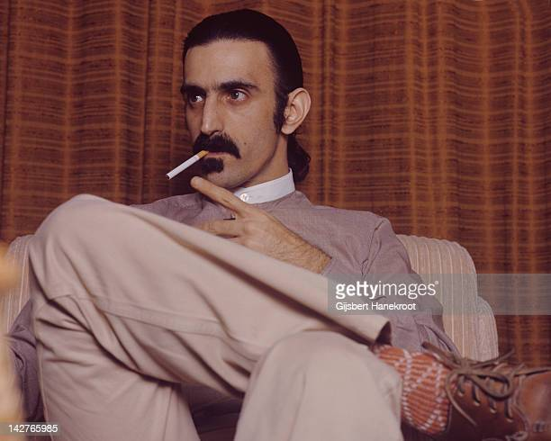 American musician Frank Zappa from The Mothers Of Invention posed in Amsterdam Netherlands in 1971