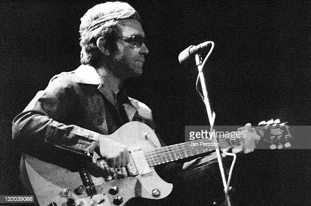 American singer and guitarist JJ Cale performs live on stage in Copenhagen circa 1975