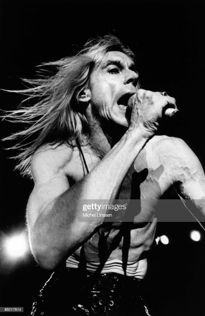 American singer Iggy Pop performs live on stage in the Netherlands in 1994.