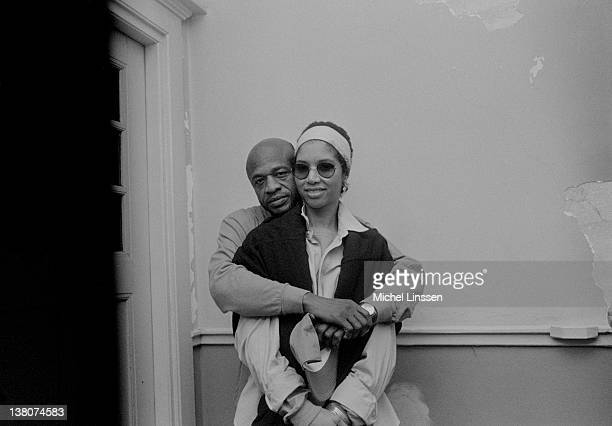 American singers Cecil Womack and Linda Cooke of Womack Womack posed in The Netherlands in 1993