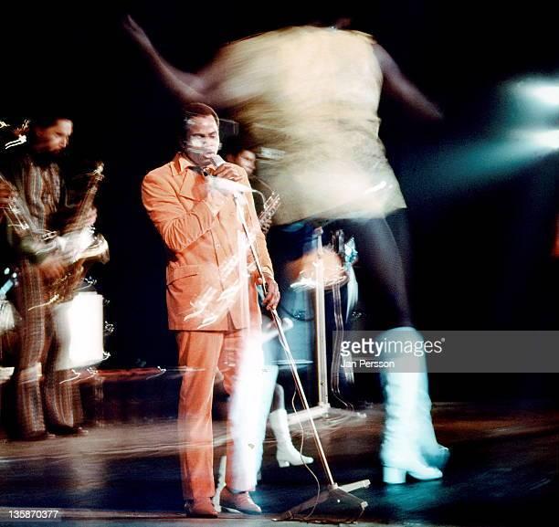 American soul singer Joe Tex performs live on stage in Copenhagen Denmark in January 1970