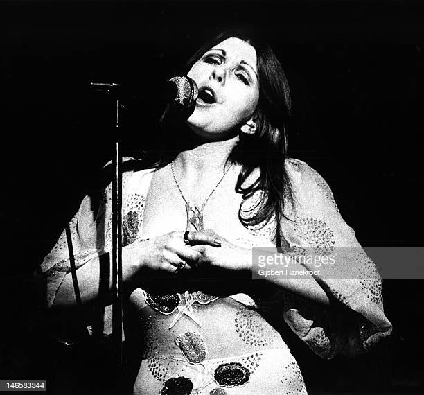 Annie Haslam of Renaissance performs on stage in Amsterdam Netherlands in 1974