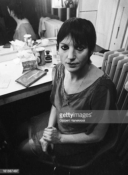 1st JANUARY: Dutch actress Kitty Courbois posed in a dressing room backstage in the Netherlands in 1971.