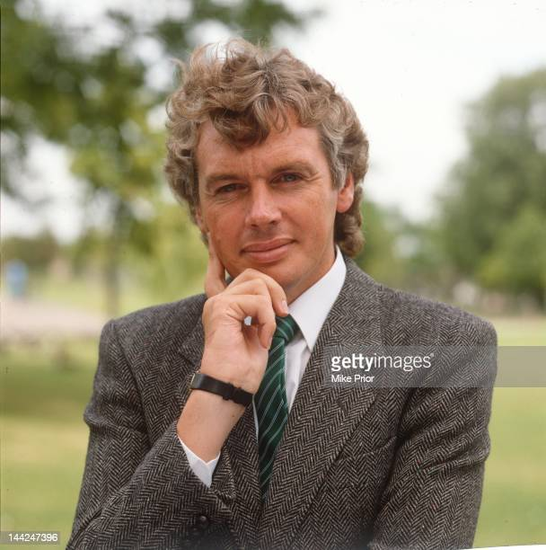 English writer and broadcaster David Icke, posed in South London in 1987.