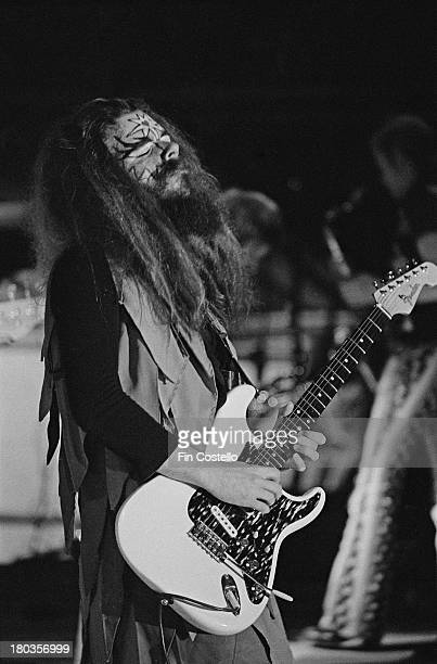 Guitarist Roy Wood from English rock group Wizzard performs live on stage in Germany in 1973