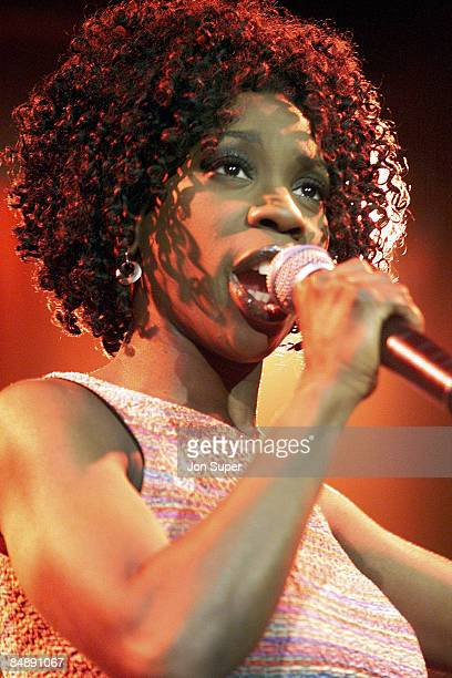Heather Small performs live on stage in Manchester England in 2000