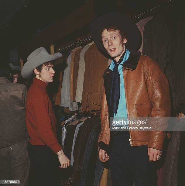Jack Bruce and Ginger Baker from British rock group Cream posed in a London clothes shop in 1966 Bass player Jack Bruce wears a stetson style hat...