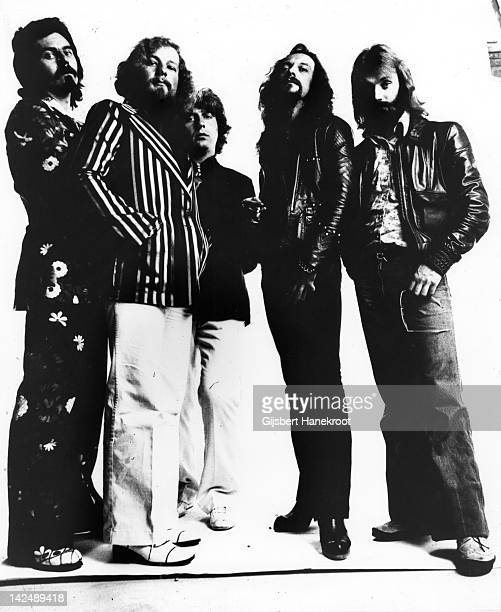 Jethro Tull posed in Amsterdam Netherlands in 1972 Left to right Jeffrey Hammond Martin Barre John Evan Ian Anderson and Barriemore Barlow
