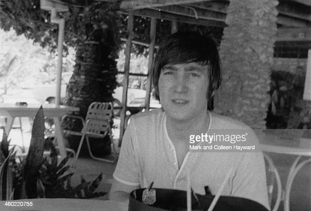 John Lennon from The Beatles posed on holiday in Port Of Spain Trinidad in January 1966