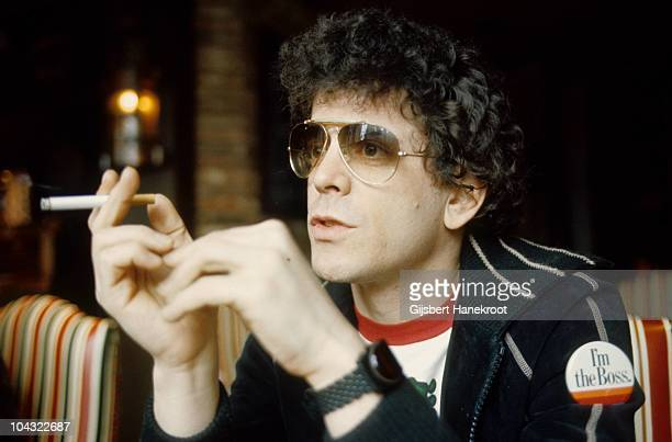 Lou Reed posed smoking a cigarette during an interview in Amsterdam Netherlands in 1976
