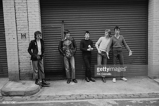 Northern Irish group The Undertones posed in Camden London in 1978 Left to right John O'Neill Feargal Sharkey Damian O'Neill Billy Doherty and...