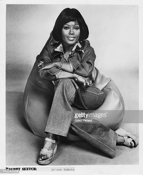 Posed studio image of American actress and singer Ja'net Dubois in 1975